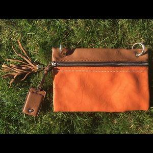 Handbags - Medium rustic clutch horse shoe interior print